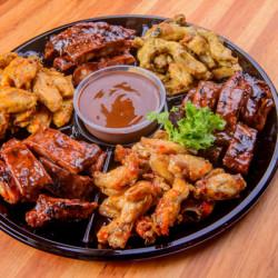 Chicken Wing And Rib Platter